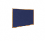 80 x 60cm Blue Fabric Notice Board With Pins